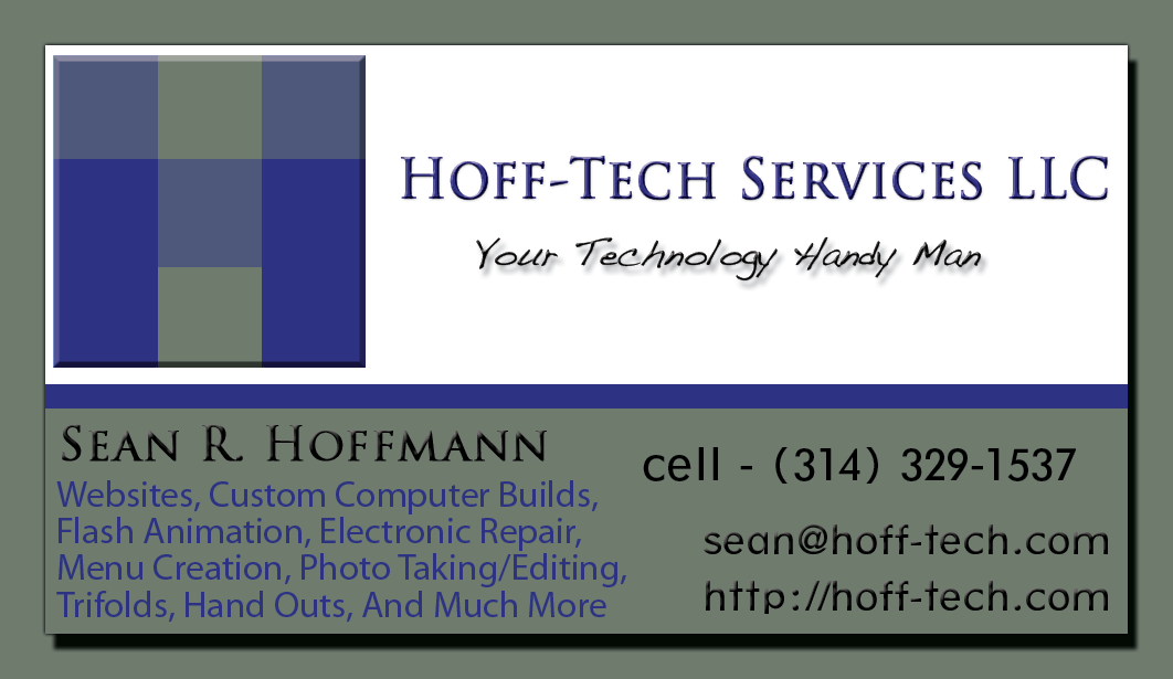 Hoff-Tech Business Card